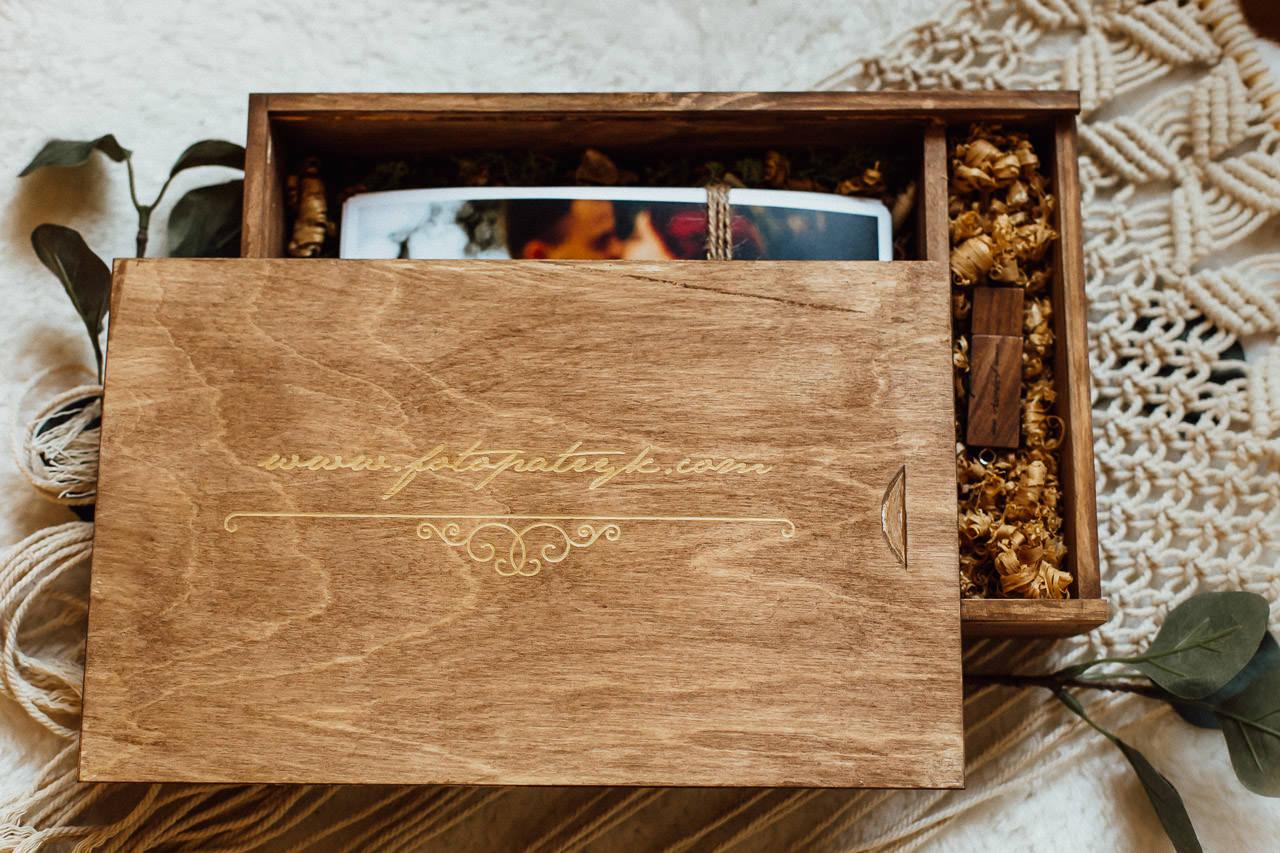 Holzbox für Hochzeitsfotos