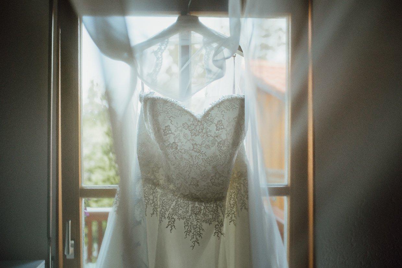 Brautkleid in Landgasthof Schmid