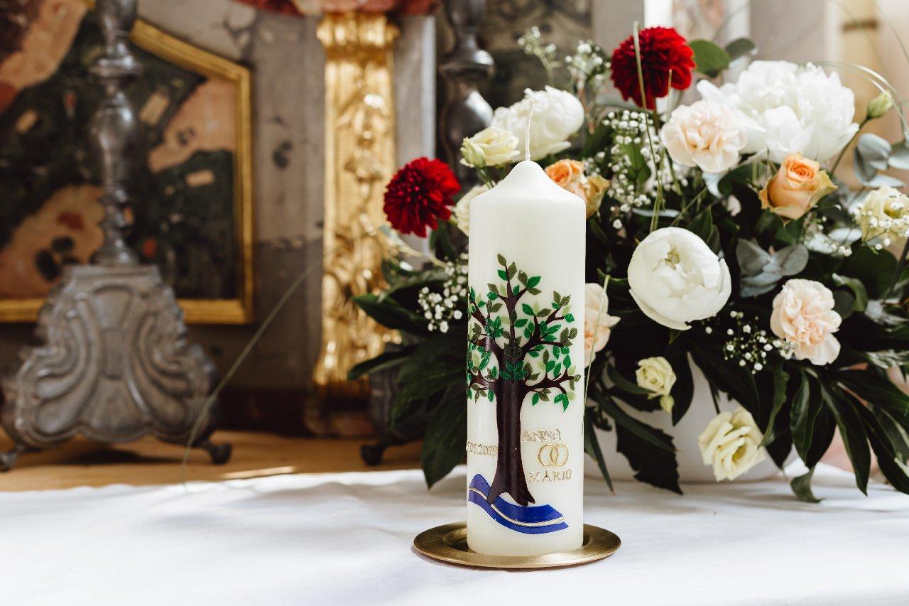 Hochzeitskerze in Landgasthof Schmid