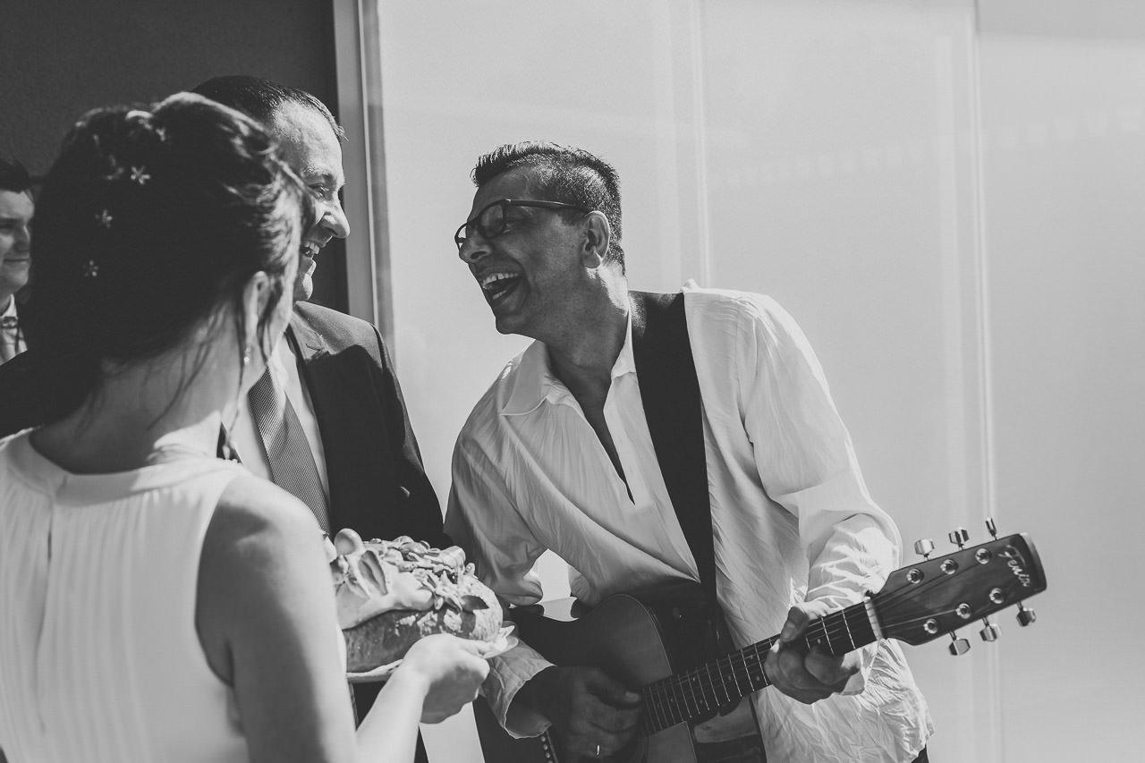 Musikband auf einer Hochzeit im Hotel Darstein