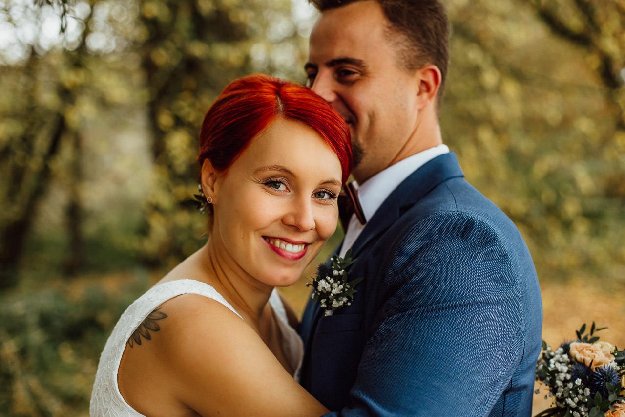 Braut und Bräutigam während der Hochzeit Porträtfotografie