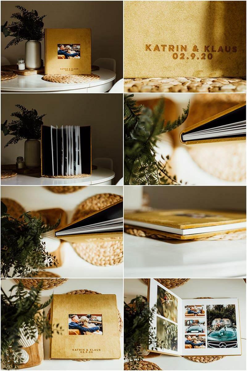 Hochzeitsfotoalbum Farbe senf