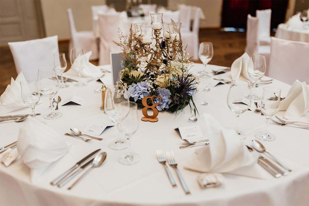 Hochzeitsgeschirr im Kurhaus Bad Tölz